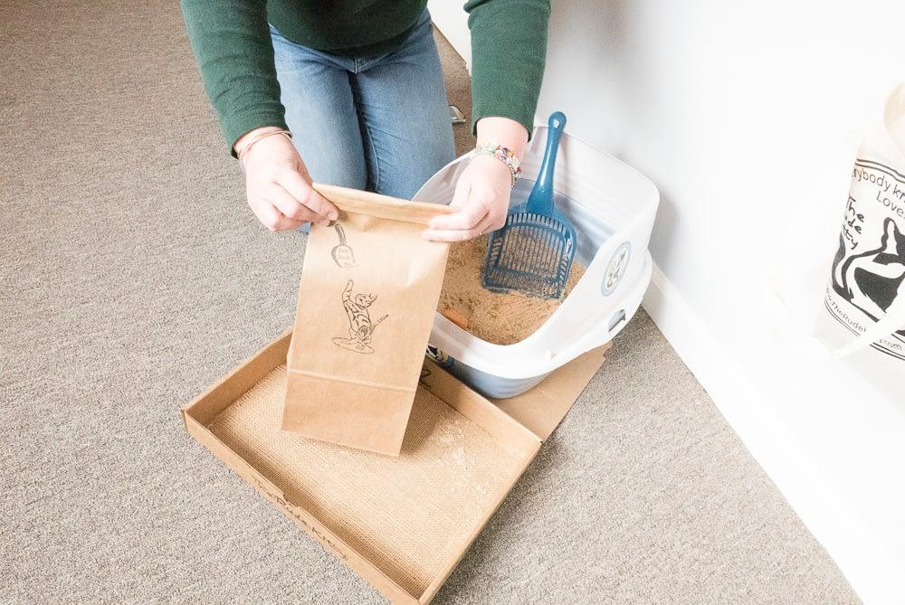 closed litter bag